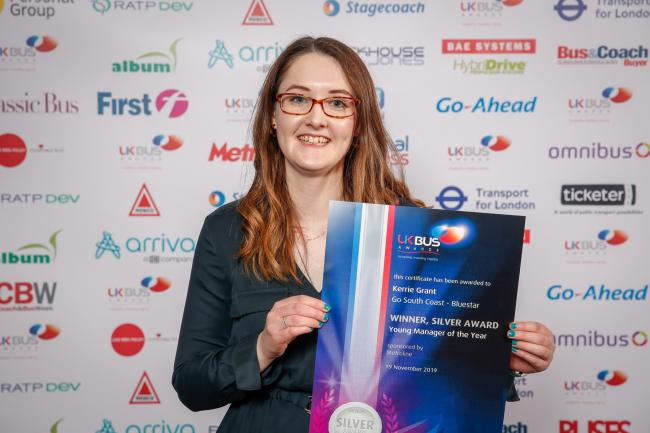 Kerrie holds one of the top two best young bus managers in the UK.