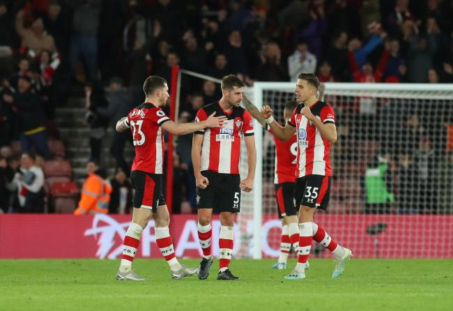 Saints celebrate their win over Watford