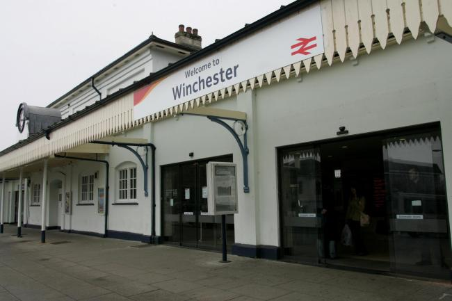Winchester railway station, for stock.