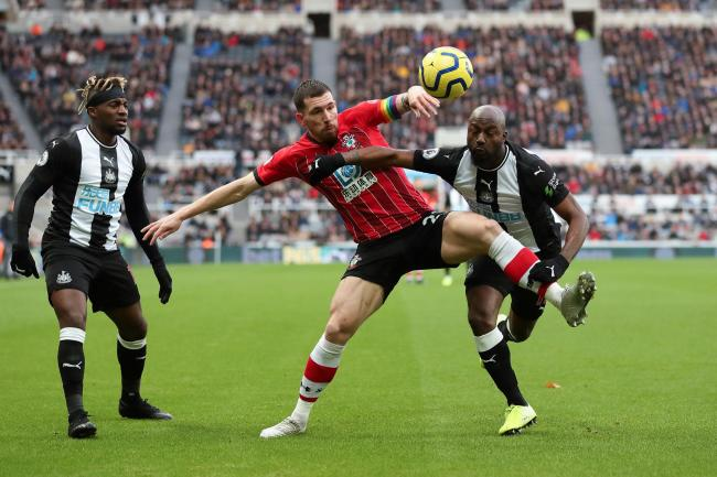 Pierre-Emile Hojbjerg in action at Newcastle United on Saturday