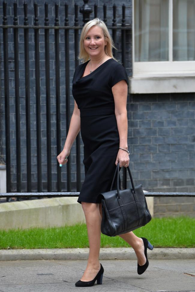 Caroline Dinenage arrives in Downing Street  for talks Prime Minister David Cameron where she was made Parliamentary Under Secretary of State at the Ministry of Justice and Minister for Equalities at the Department for Education. PRESS ASSOCIATION Photo.