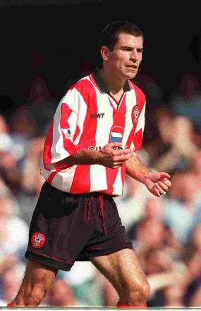 Francis Benali playing for Saints at The Dell