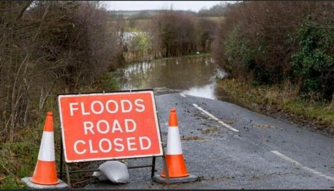 Flood warning sign Picture: Dorset & Wiltshire Fire and Rescue Service