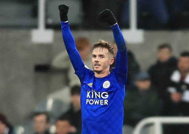 Leicester City's James Maddison celebrates scoring his side's second goal of the game during the Premier League match at St James' Park, Newcastle. PA Photo. Picture date: Wednesday January 1, 2020. See PA story SOCCER Newcastle. Photo credit