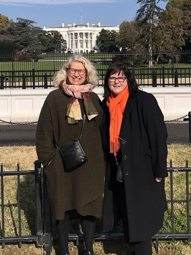 Dr Julie Hall, interim vice-chancellor at Southampton University, and Anne-Marie Mountifield, chief executive and director of Solent LEP, in Washington for a trade mission with the LEP