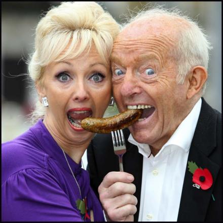 The lovely Debbie McGee and husband Paul Daniels