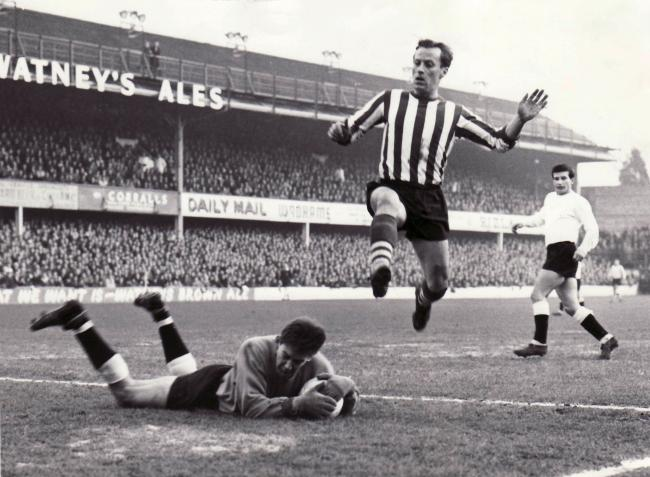 George O'Brien in action for Saints at The Dell in 1964