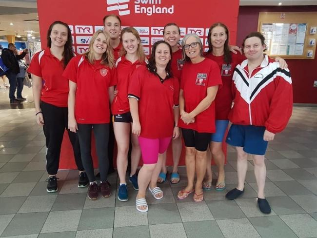 Members of the City of Southampton Swimming Club that competed in Sheffield