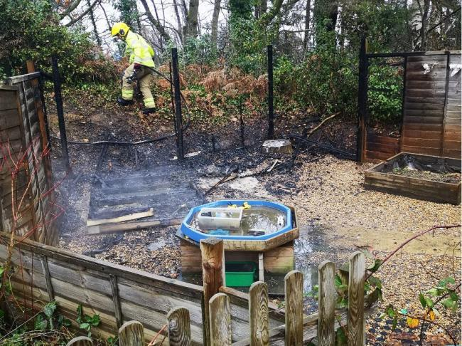 Appeal for witnesses after fire damages wooden playhouse at school in Bordon.