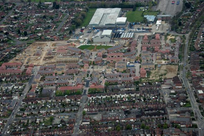 Aerial view of Eastleigh