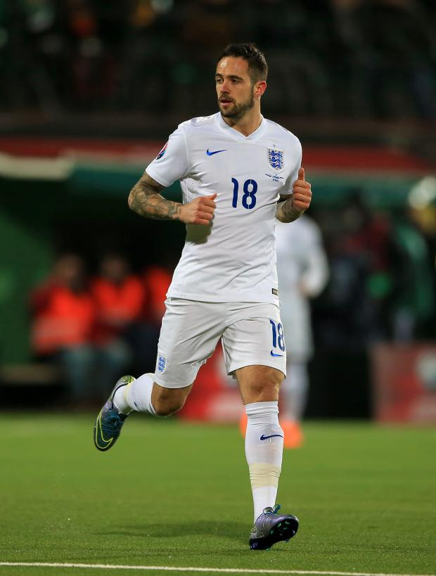 Daily Echo: Danny Ings during his only England appearance in 2015