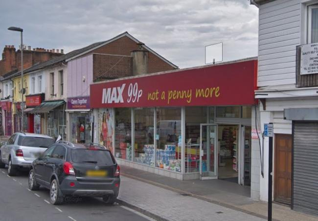 99p Max on Victoria Road, Woolston.