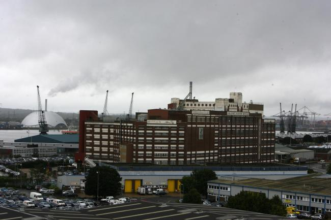 Solent Flour Mills is set to be demolished and, inset, Cllr Sarah Bogle