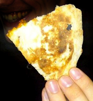 Image of Jesus Christ found on naan bread