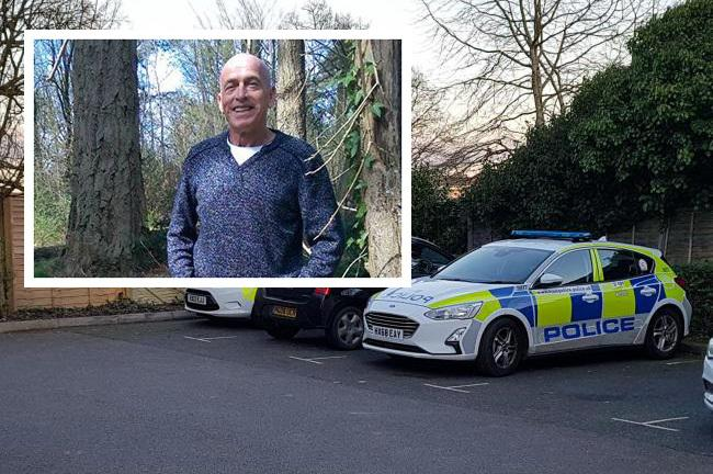 John Perry, 70, whose body was discovered at a property in Bursledon Road. Inset: Police at the scene.