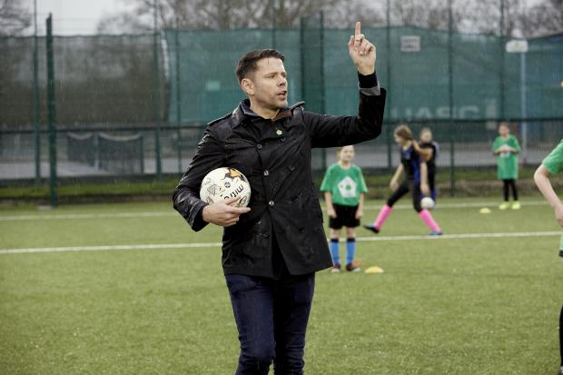 Daily Echo: James Beattie was speaking at the opening of Swanmore College's new 3G pitch (Pic: Jody Kingzett)