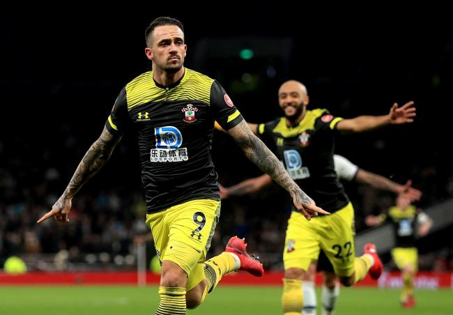 Southampton's Danny Ings celebrates scoring his side's second goal of the game during the FA Cup fourth round replay match at Tottenham Hotspur Stadium, London. PA Photo. Picture date: Wednesday February 5, 2020. See PA story SOCCER Tottenham. Ph