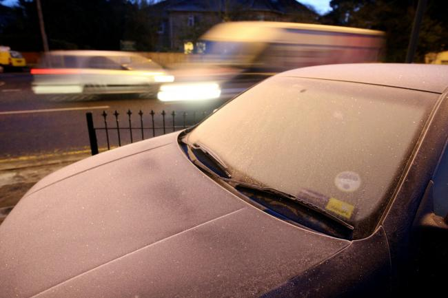 Ice warning issued for Hampshire for tonight