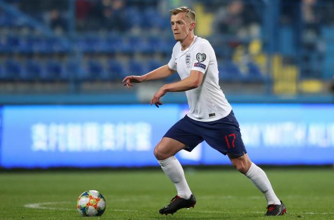 James Ward-Prowse in action for England