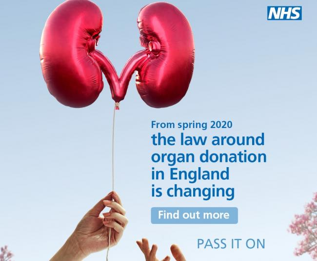 You will soon have to opt out of organ donation. Credit: NHS England