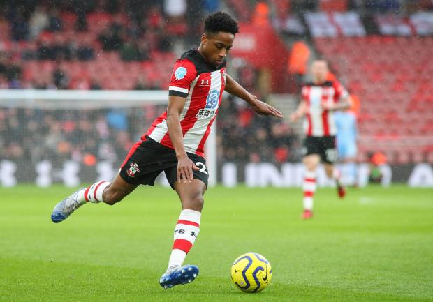 Daily Echo: Kyle Walker-Peters in action for Saints against Burnley in February