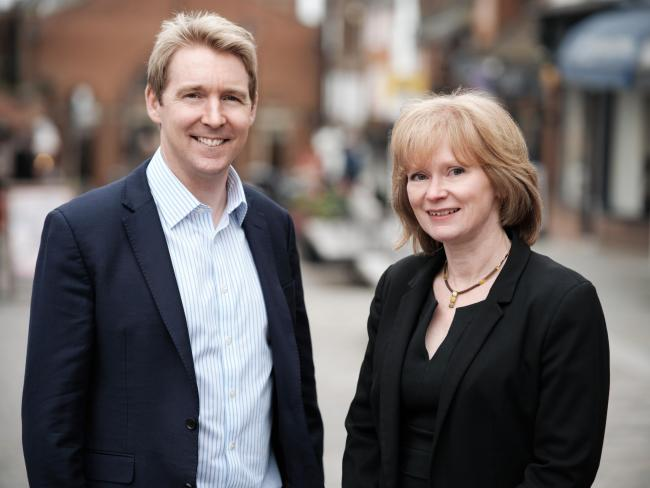 Ed Whittington, managing partner of Moore Blatch, and Helen Goatley, chairman of Barlow Robbins