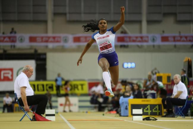 Naomi Ogbeta claimed her sixth British title in Glasgow in February, with a jump of 13.83m © Reuters