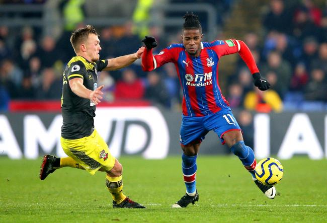 James Ward-Prowse battles Crystal Palace's Wilfried Zaha