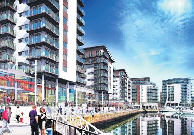 Artists impression of the Admiral's Quay development