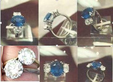 An image of the jewellery stolen during the burglary