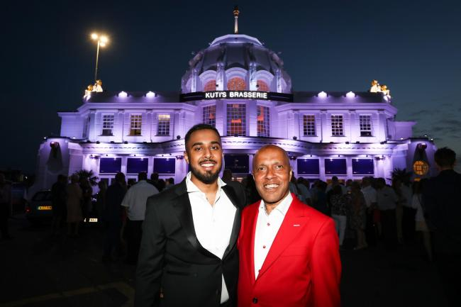 Breast Cancer Haven charity evening at Kuti's Brasserie at Southampton Royal Pier to launch the newly refurbished restaurant - Arman Miah and Kuti.