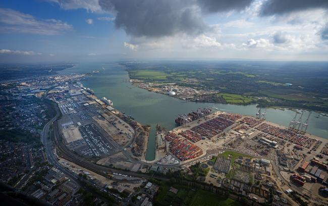 DP World quay workers in Southampton