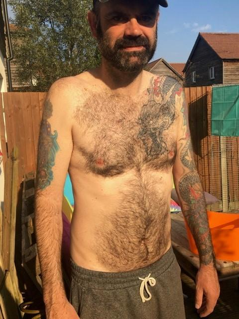 Hairy Chested Twyford Postman James Is Waxed For The Nhs Daily Echo