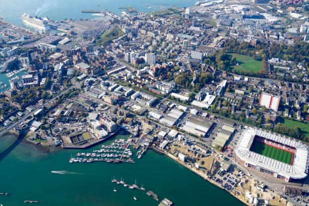 Aerial view of Southampton (photo: Stephen Bath)