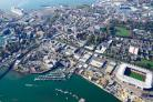 Aerial view of Southampton