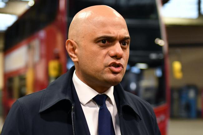 Sajid Javid visits Birmingham Central Bus Garage