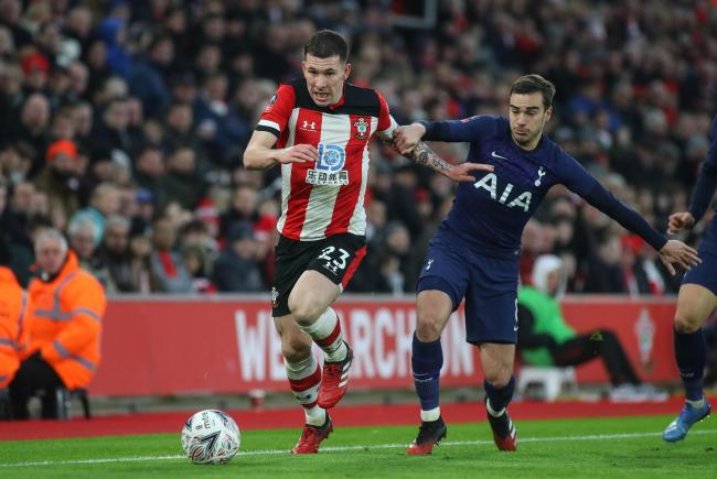 Pierre-Emile Hojbjerg in action against Tottenham
