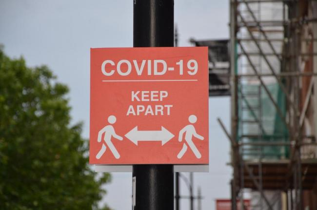 Covid signs. Picture: Paul King