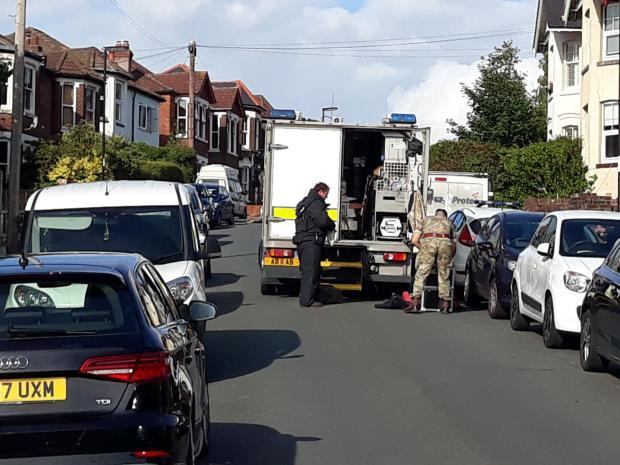 Daily Echo: Bomb Disposal Unit at Bond Road, Southampton