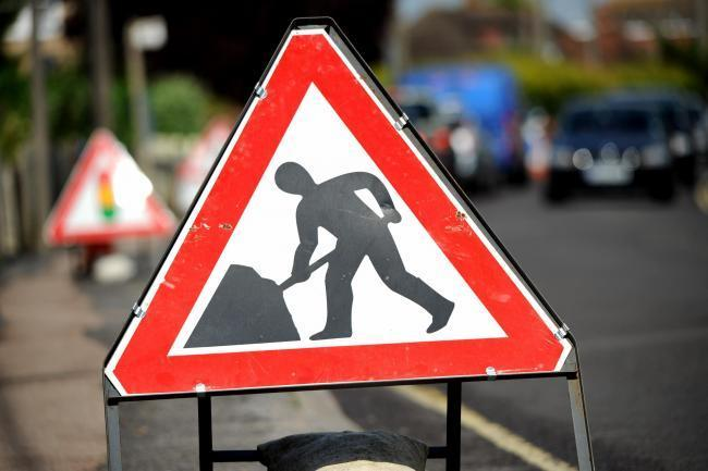 Roadworks are taking place across Hampshire this weekend.