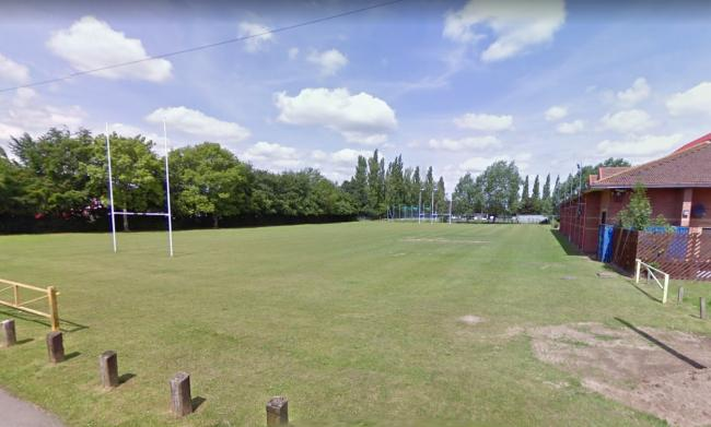 The rugby pitch behind the Romsey Rapids