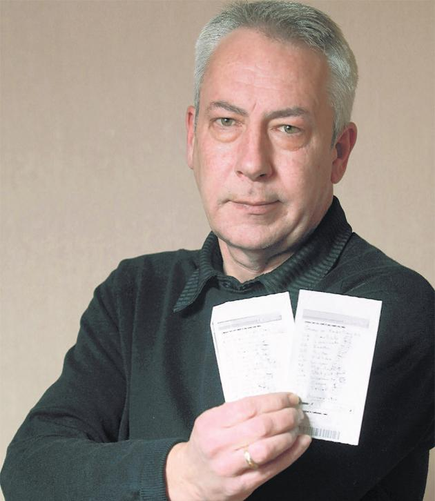 Cliff Bryant and his 'winning' betting slips