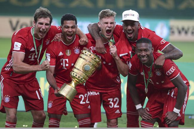 Bayern Munich are celebrating yet another cup triumph
