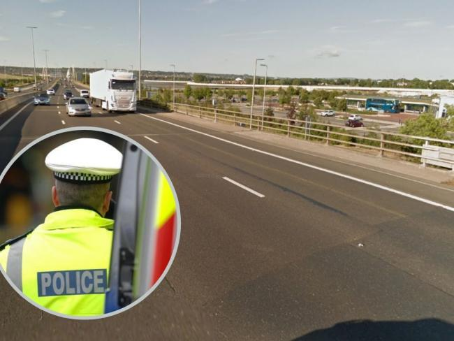 A 40-year-old man died following a serious road-traffic collision on the M275, near Tipner Lane.