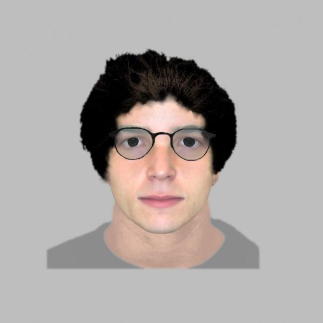 An E-fit of a man police would like to identify following an assault in St Mary's Churchyard in Fratton.