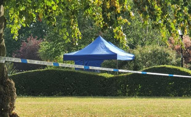 Daily Echo: Officers investigate a stabbing which happened on Thursday night in East Park, Southampton