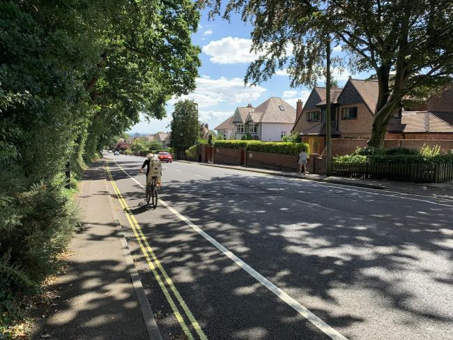 Part of the cycle lane on Hill Lane will be removed after Christmas, it has been confirmed.