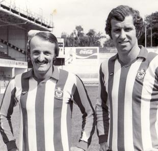 GREAT SIGNINGS: Peter Rodrigues, left, and Peter Osgood were both signed by Lawrie McMenemy for their experience ... and both ended up as FA Cup winners in 1976.