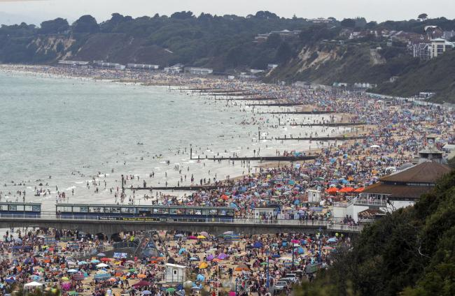 Bournemouth beach on Friday