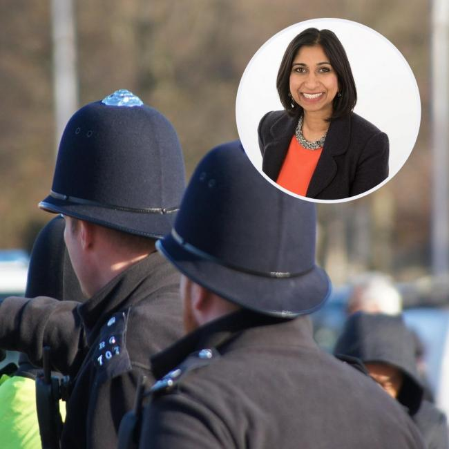 Suella Braverman welcomes 31 new police officers to Hampshire